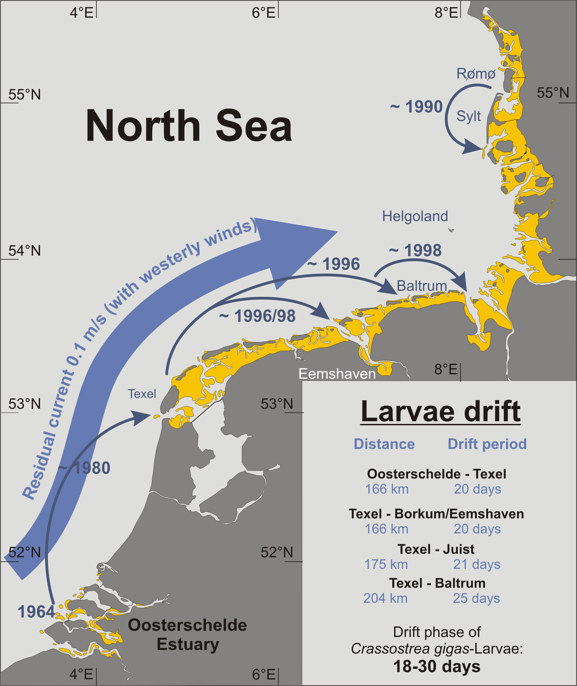 Map Of Germany North Sea.Marine Pollution