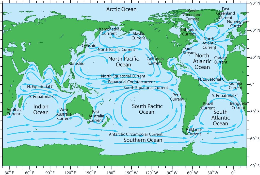 pacific ocean current map Ocean Currents pacific ocean current map